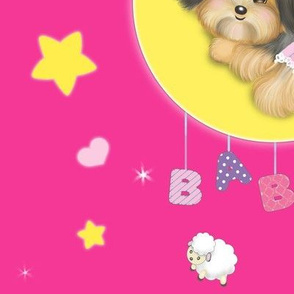 Yorkie baby girl hot pink L