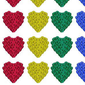 Rainbow Flower Heart - Valentine