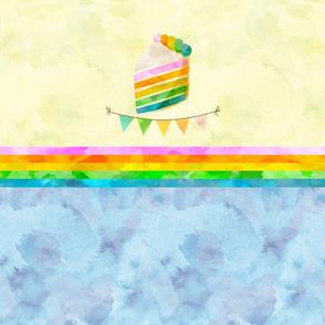 Watercolor Cake Diaper Panel
