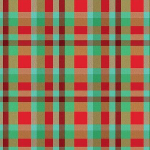 Holiday plaid, Red and green