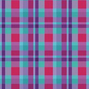 Winter Plaid, blue, magenta, purple