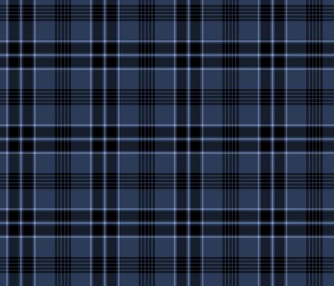 Navy Blue and Black Plaid fabric by northern_whimsy on Spoonflower - custom fabric