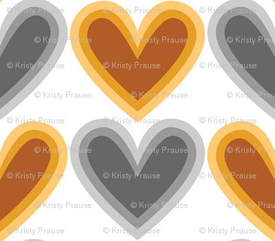 Hearts Beat Gold Pattern
