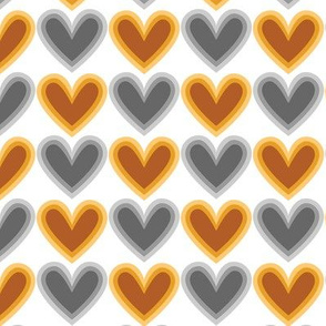Hearts Beat Gold Pattern