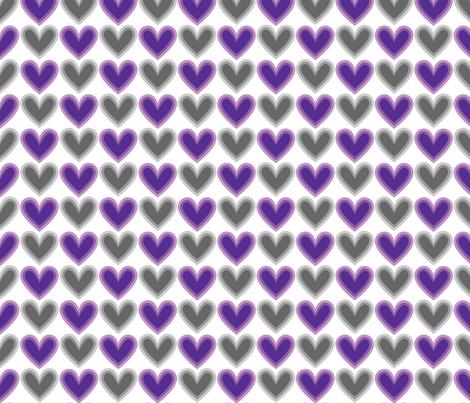 Hearts Beat Purple Pattern fabric by kristykate on Spoonflower - custom fabric