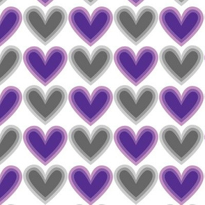 Hearts Beat Purple Pattern