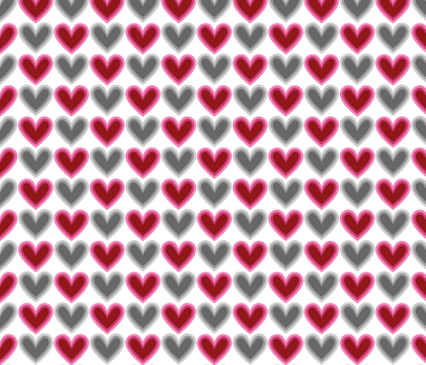 Hearts Beat Red Pattern fabric by kristykate on Spoonflower - custom fabric