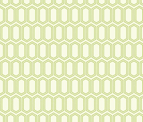 Elongatedhexagongeometricpattern-linegreenonwhite-12cm150dpi_shop_preview