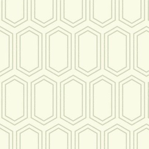Elongated Hexagon Geometric Pattern (Line Dark on Light Neutral Grey)