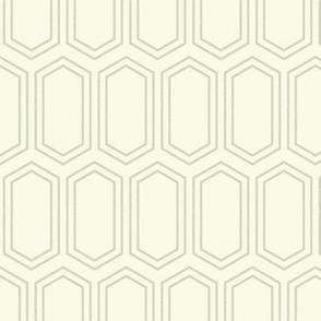 Elongated Hexagon Geometric Pattern (Line Dark on Light Neutral Grey)