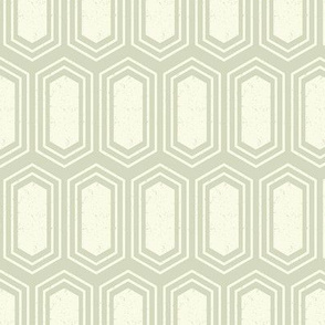 Elongated Hexagon Geometric Pattern (Fill Light on Dark Neutral Grey)