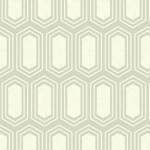 Elongated Hexagon Geometric Pattern (Fill Light on Dark Neutral Grey)