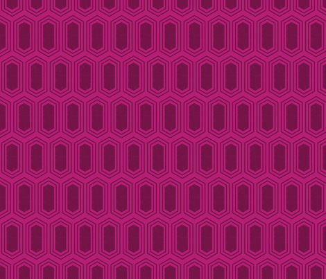 Elongated Hexagon Geometric Pattern (Fill Deep Red on Magenta) fabric by kristykate on Spoonflower - custom fabric