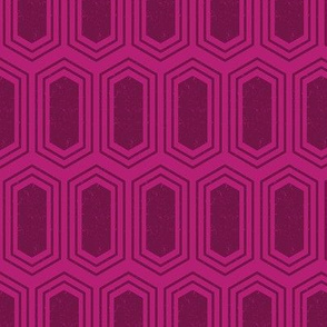 Elongated Hexagon Geometric Pattern (Fill Deep Red on Magenta)