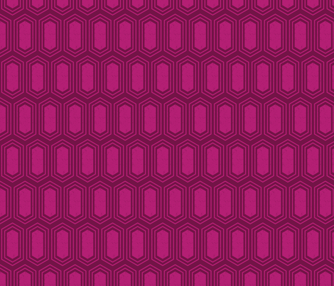 Elongated Hexagon Geometric Pattern (Fill Magenta on Deep Red) fabric by kristykate on Spoonflower - custom fabric