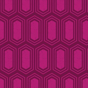 Elongated Hexagon Geometric Pattern (Fill Magenta on Deep Red)