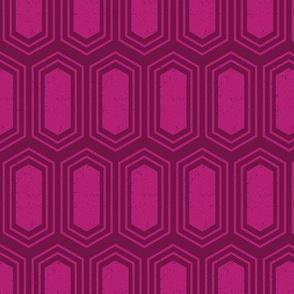 Elongated Hexagon Geometric Pattern (Fill Magenta on Deep Red)