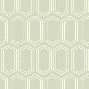 Elongated Hexagon Geometric Pattern (Line Light on Dark Neutral Grey)