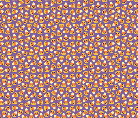 Happy Halloween Candy Corn fabric by kristykate on Spoonflower - custom fabric