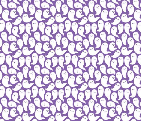 Friendly Ghosts (Purple) fabric by kristykate on Spoonflower - custom fabric