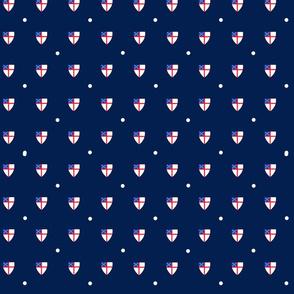 Episcopal Shield Blue Dot