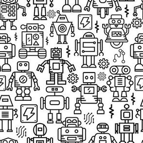 17 Robots midi scale