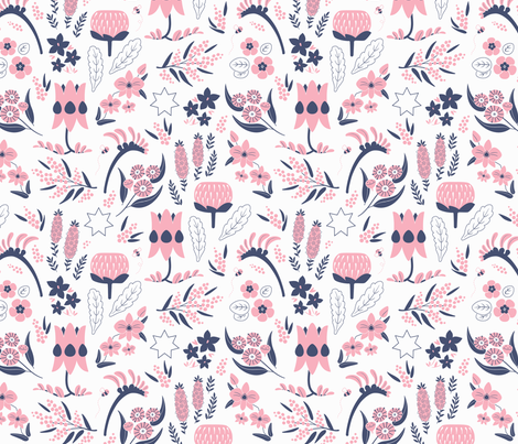 A Place to Flourish (Rose) fabric by kristykate on Spoonflower - custom fabric