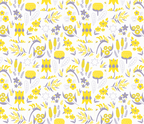 A Place to Flourish (Yellow) fabric by kristykate on Spoonflower - custom fabric