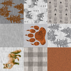 Fox Forest - Rust, tan and Grey - rotated