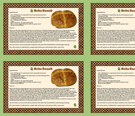Madeleine's Soda bread Recipe fabric by nezumiworld on Spoonflower - custom fabric