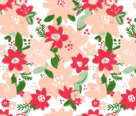 Poinsettia Blooms fabric by alison_janssen on Spoonflower - custom fabric