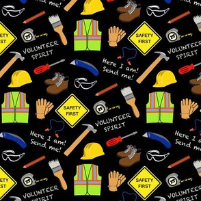Safety First Construction Volunteer Black