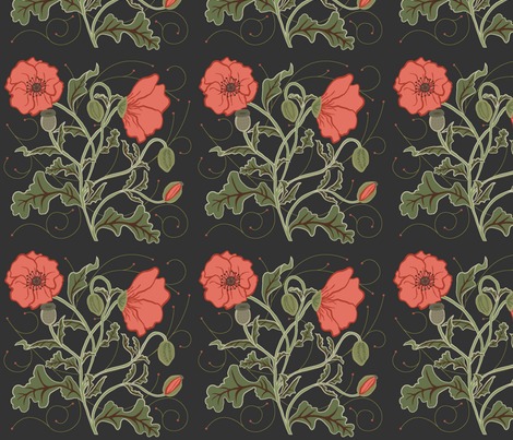 poppies-01 fabric by chesapeaketess on Spoonflower - custom fabric