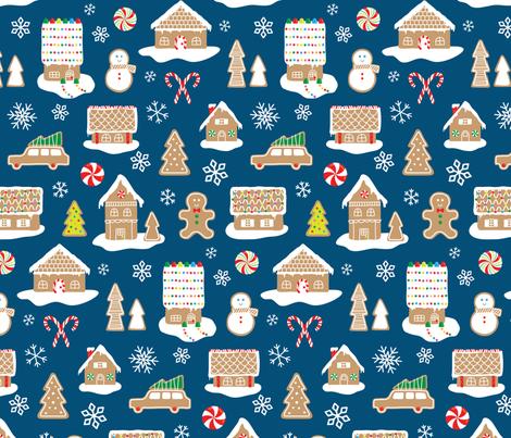 Gingerbread Town fabric by kelmar on Spoonflower - custom fabric