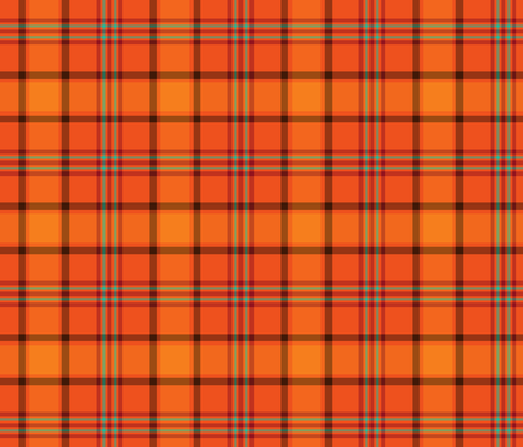 Fall Orange Plaid Pattern fabric by northern_whimsy on Spoonflower - custom fabric