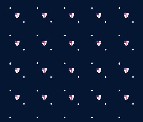 Episcopal Shield Tiny Dot fabric by runs_with_scissors on Spoonflower - custom fabric