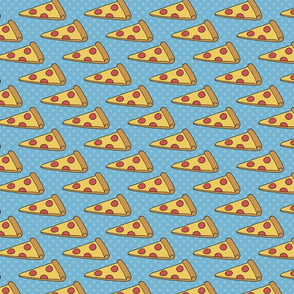Pizza Slices on Blue