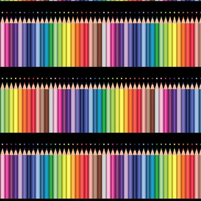 Colored pencils polka Dots Parallel Black