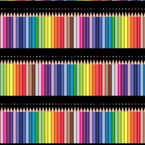 Colored pencils polka Dots Parallel Black