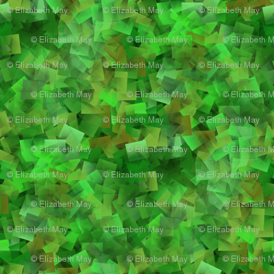 military green abstract cubism