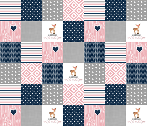 3 Inch Wild & Free Wholecloth Cheater Quilt fabric by longdogcustomdesigns on Spoonflower - custom fabric