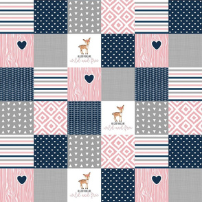 3 Inch Wild & Free Wholecloth Cheater Quilt