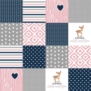 4.5 inch Wild & Free - Wholecloth Cheater Quilt