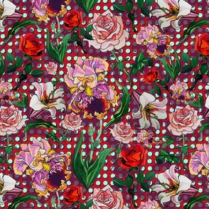 Red polkadot floral