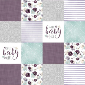 4.5 Sweet Baby Girl - Wholecloth Cheater Quilt