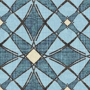 Maria, Blue Diamond Star linen