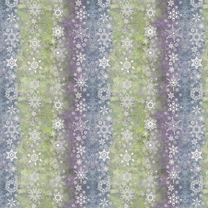snowflake stripes - geometric shapes on lime, blue, purple