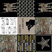 Army Faux Quilt Rotated