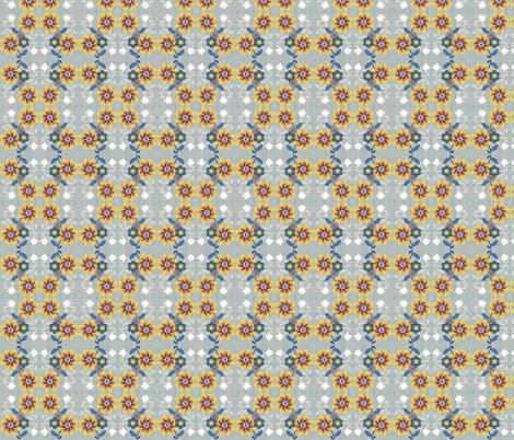 meadow love in grey gardens fabric by tamer-animals on Spoonflower - custom fabric