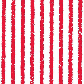 Vertical Lullaby Stripes( Red/White)